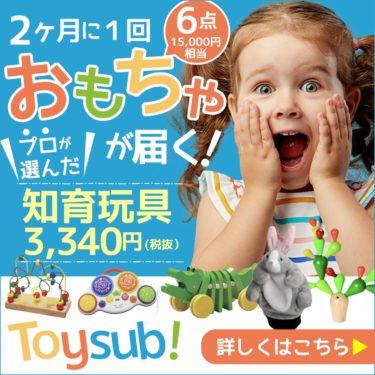 【トイサブ!】知育玩具の定額レンタルサービス(子供の年齢でカスタマイズ)ショック