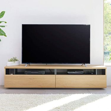 白井産業 大型テレビ台 50から60インチ対応  ラモリア RAM-4018H NA ナチュラルブラウン 幅180cm虎の巻